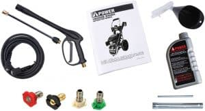 Some of the accessories of the A-iPower APW3200K