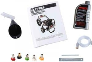 Some of the accessories of the A-iPower APW4200