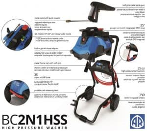 The specs of the AR Blue Clean BC2N1HSS