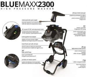The specs of the AR Blue Clean MAXX2300