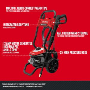 The specs of the Craftsman CMEPW1900