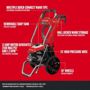 The specs of the Craftsman CMEPW2100