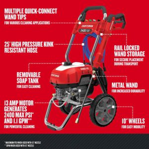 The specs of the Craftsman CMEPW2400