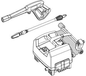 Some of the accessories of the Ryobi RY141612