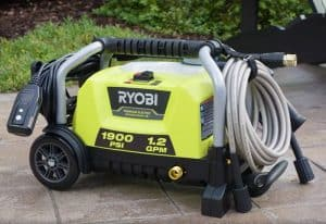 The Ryobi RY1419MT in use