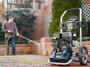 The Ryobi RY803223 in use