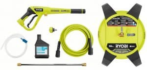 Some of the accessories of the Ryobi RY803423H