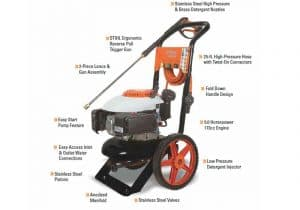 The specs of the Stihl RB 200