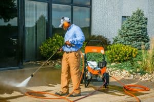The Stihl RB 800 in use