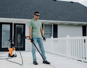 The Stihl RE 110 PLUS in use