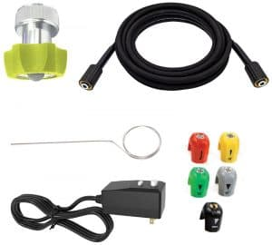 Some of the accessories of the Sun Joe SPX3220