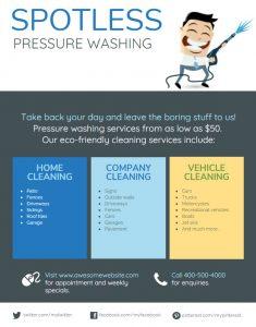 pressure washer marketing flyer