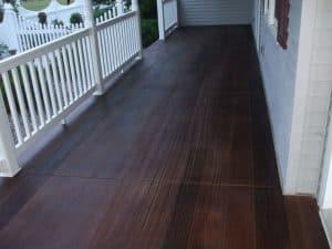 wood-like decorative concrete